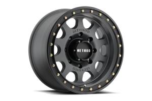 Method Race Wheels MR311 Titanium Vex non-Beadlock Wheel, Matte Black 17x8.5 5x5  (Part Number: )