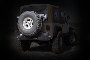 LOD Signature Series Rear Bumper w/Tire Carrier and No Light Provisions Black Powder Coated (Part Number: )