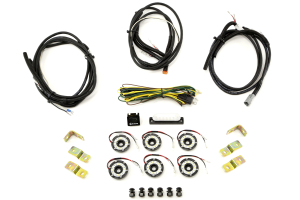 KC Hilites Rock Light Kit, 6 Lights, Clear (Part Number: )