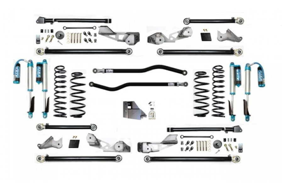 Evo Manufacturing 3.5in High Clearance PLUS Long Arm Lift kit w/ Comp Adjuster Shocks - JL 4Dr