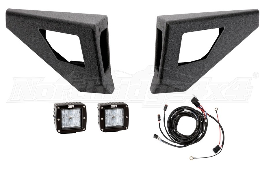 Body Armor  Pro-Series Front Winch Bumper Wings With Led Cut Outs (Part Number:JK-19536-WCC)