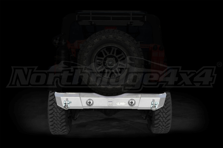 LOD Signature Series Shorty Rear Bumper w/ Light Provision Cutouts Bare Steel (Part Number:JRB0750)