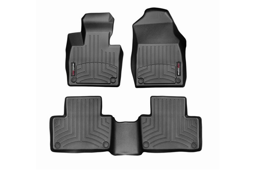 WeatherTech Front and Rear Floor Liners - Black  - Ford Bronco Sport w/ Rubberized Floor