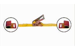Mac's Ratchet Strap w/ Flat Hooks 2in x 8ft (Part Number: )