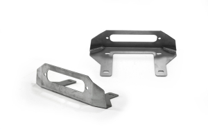 LOD Destroyer Front Bumper Fairlead Mount Bare Steel - JT/JL/JK
