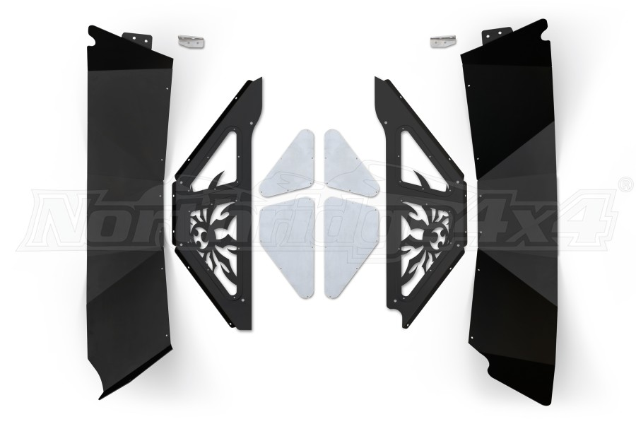 Poison Spyder Rear Inner Fender Kit Black (Part Number:17-05-080P1)