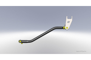 Clayton Adjustable Front Track Bar w/HD Bushing and Drop Bracket (Part Number: )