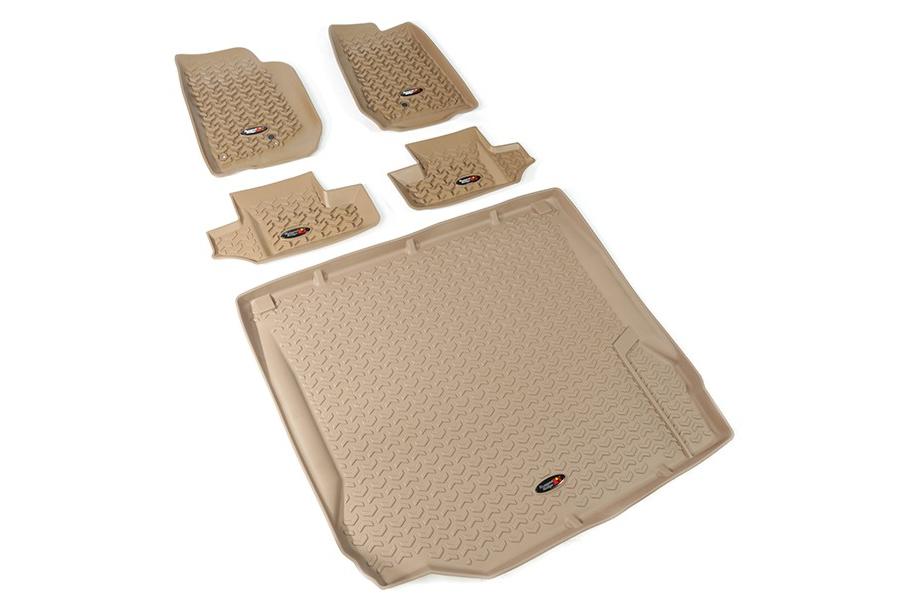 Rugged Ridge Floor Liner Kit, Tan - JK 2DR