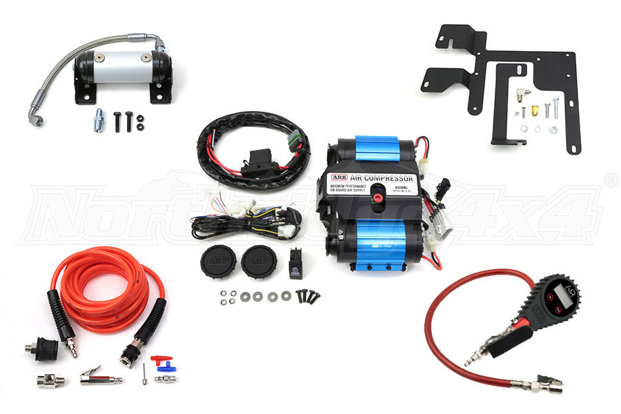 ARB Twin Air Compressor, NR4X4 Compressor Mount, Tire Pump Kit and ARB Manifold ( Part Number: PROMO-3.1)