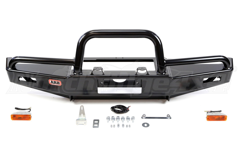 Arb Deluxe Winch Bull Bar Bumper Black Jeep Rubicon 2004