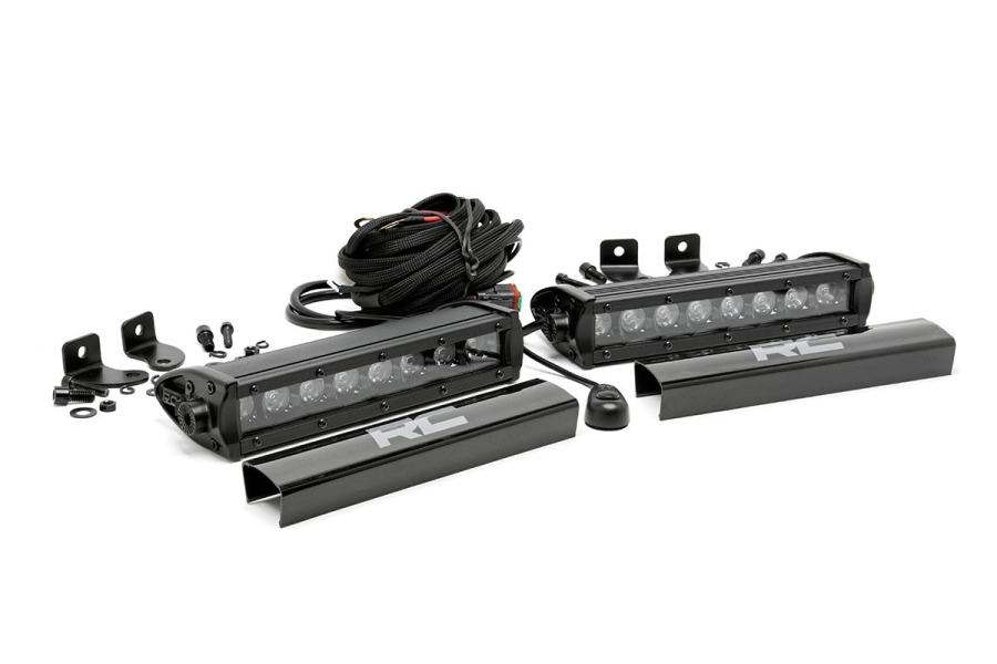 Rough Country 8in Black Series Single Row Light Bars (Part Number:70728BL)