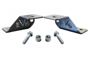 Evo Manufacturing A-Pillar Light Mounts, Pair - Black - JT/JL