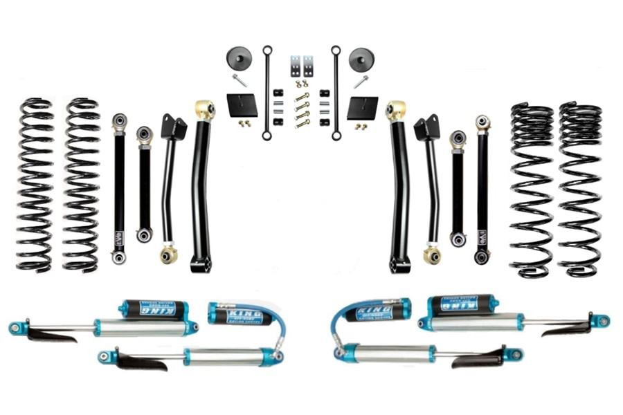 Evo Manufacturing 2.5in Enforcer Stage 4 Lift kit w/ Comp Adjuster Shocks - JT