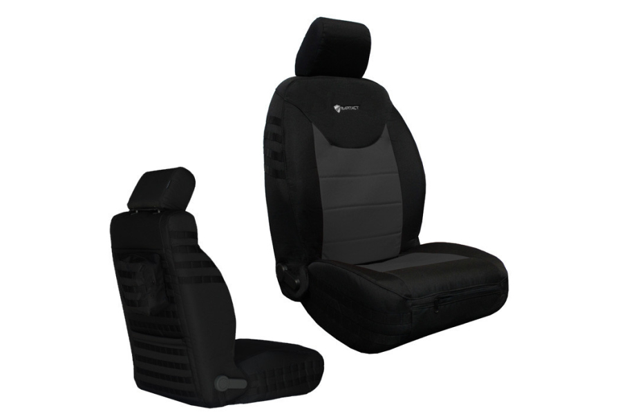 Bartact Supreme Front Seat Covers Black/Graphite (Part Number:JKSC2013FPBG)