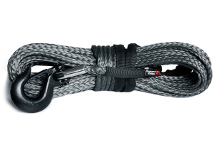 Rugged Ridge Synthetic Winch Line, Dark Gray, 25/64