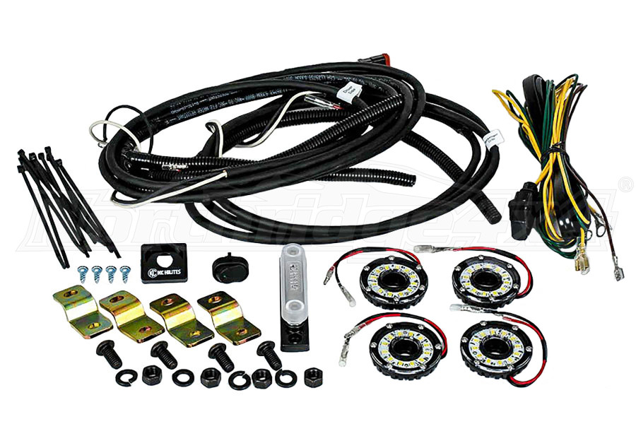 KC Hilites Rock Light Kit, 4 Lights, Clear (Part Number:91020)