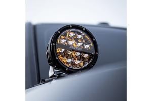 Rigid Industries 360-Series 6in LED Off-Road Spot Fog Lights, Amber - Pair