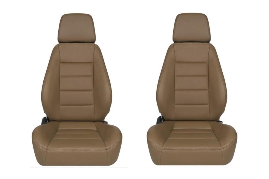 Corbeau Sport Tan Vinyl Seat Pair (Part Number:90060PR)