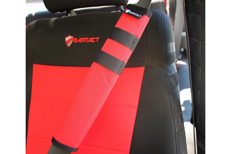 Bartact Universal Seat Belt Covers, Pair - Red