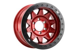 Dirty Life 9302 RoadKill Series Wheel, Red w/ Black Ring - 17x9 5x5  - JT/JL/JK