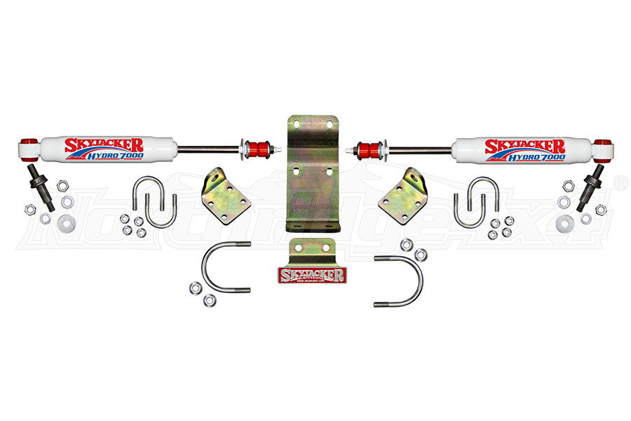 Skyjacker High Clearance Dual Steering Stabilizer Kit - White - JT/JL