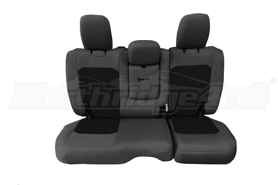 Bartact Tactical Rear Seat Cover w/Fold Down Armrest Graphite/Black (Part Number:JLSC2018RFGB)