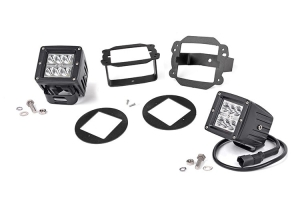 Rough Country 2in Chrome Series Fog Light Kit (Part Number: )