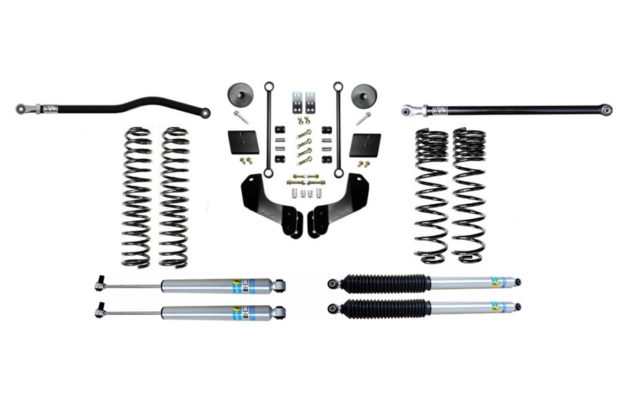 Evo Manufacturing 2.5in Enforcer Overland Stage 1 PLUS Lift Kit w/ Bilstein Shocks - JT