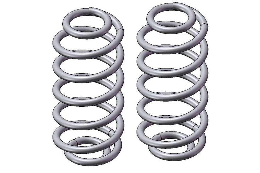 Clayton Rear Set 4.0in Coil Springs  (Part Number:1505401)