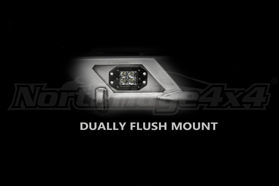 LOD Destroyer Light Bezel Options, Rigid D-Series Flush Mount Light Black Powder Coated - JK