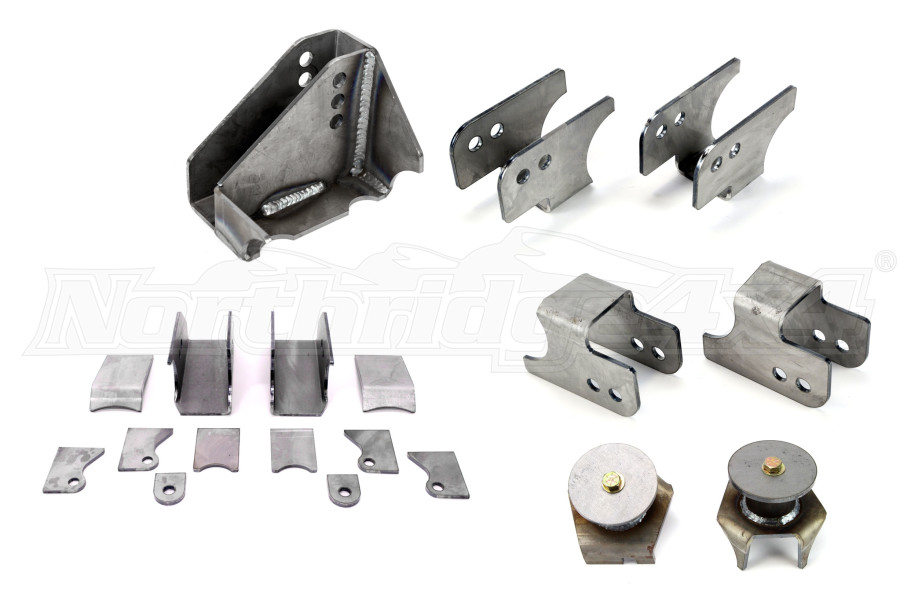 Synergy Manufacturing HD Rear Axle Bracket Kit (Part Number:8072)