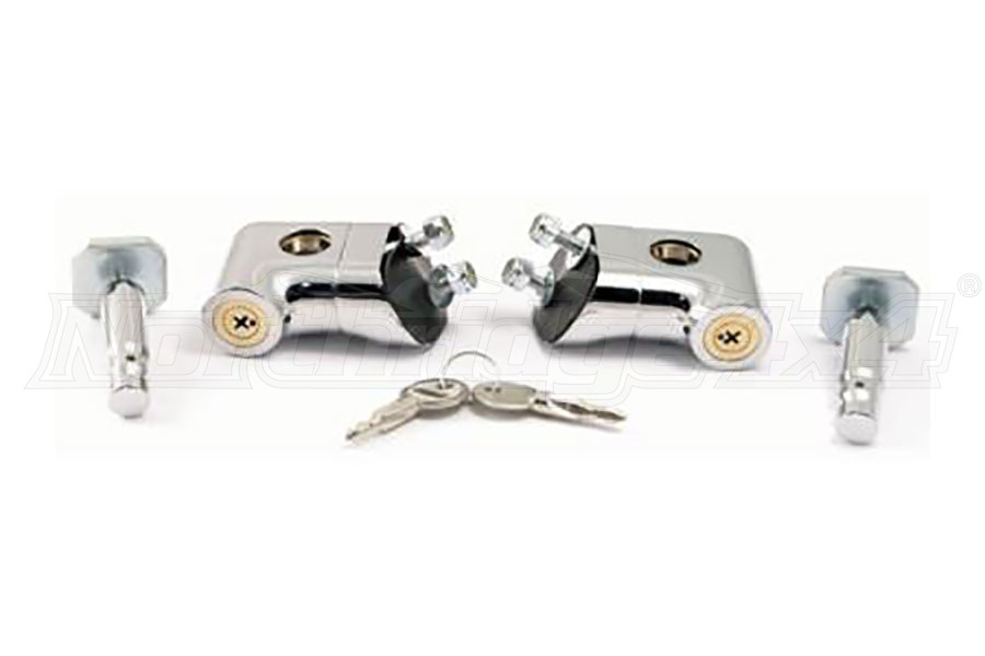 Smittybilt Locking Hood Catch Kit Chrome (Part Number:7591)