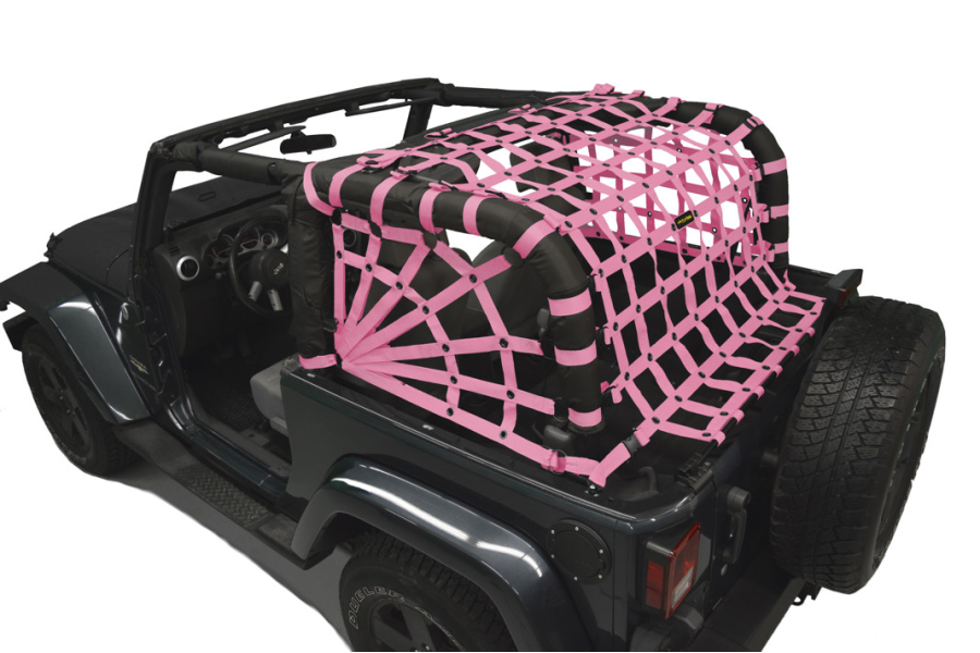Dirty Dog 4x4 Spider Netting Rear Pink - JK 2dr