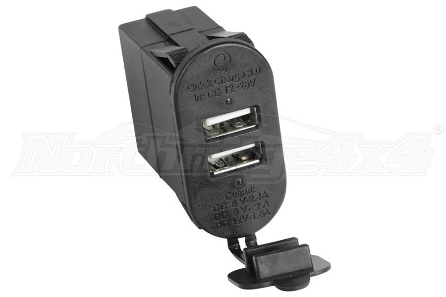 Rugged Ridge Dual USB Port w/ Qi capabilities 3.0