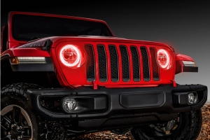 Oracle LED Headlight Surface-Mount Halo Kit - Red - JT/JL