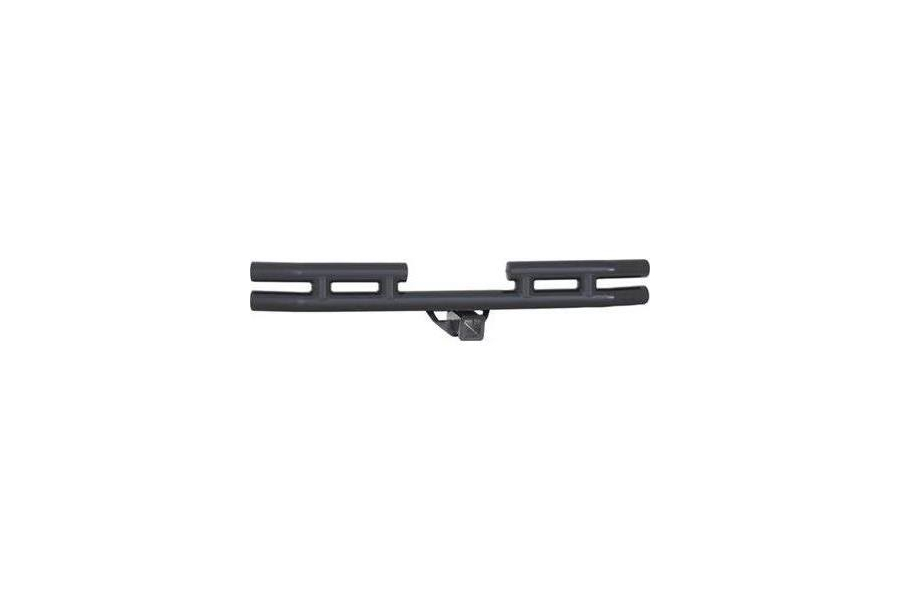 Smittybilt Rear Tubular Bumper w/Hitch Gloss Black - JK