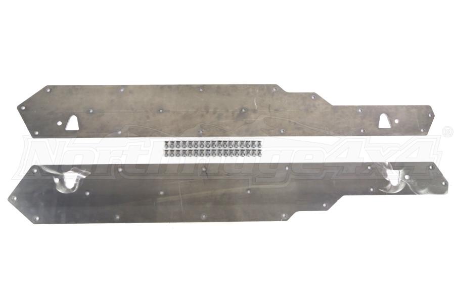 Artec Industries 1/4in Aluminum Rock Sliders Guard Kit (Part Number:JK2405)