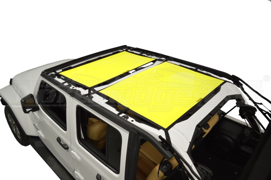 Dirty Dog 4x4 Sun Screen Front and Rear - Yellow - JL 4DR