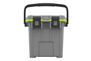 Pelican 20QT Elite Cooler  - Dark Gray/Green