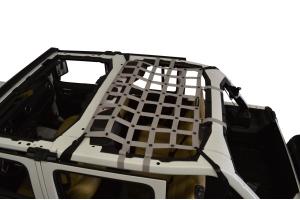Dirty Dog 4x4 Rear Seat Netting, Grey - JL 4Dr
