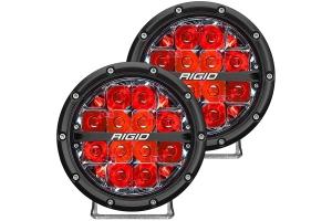 Rigid Industries 360-Series 6in Off-Road LED Spot Fog Lights, Red - Pair