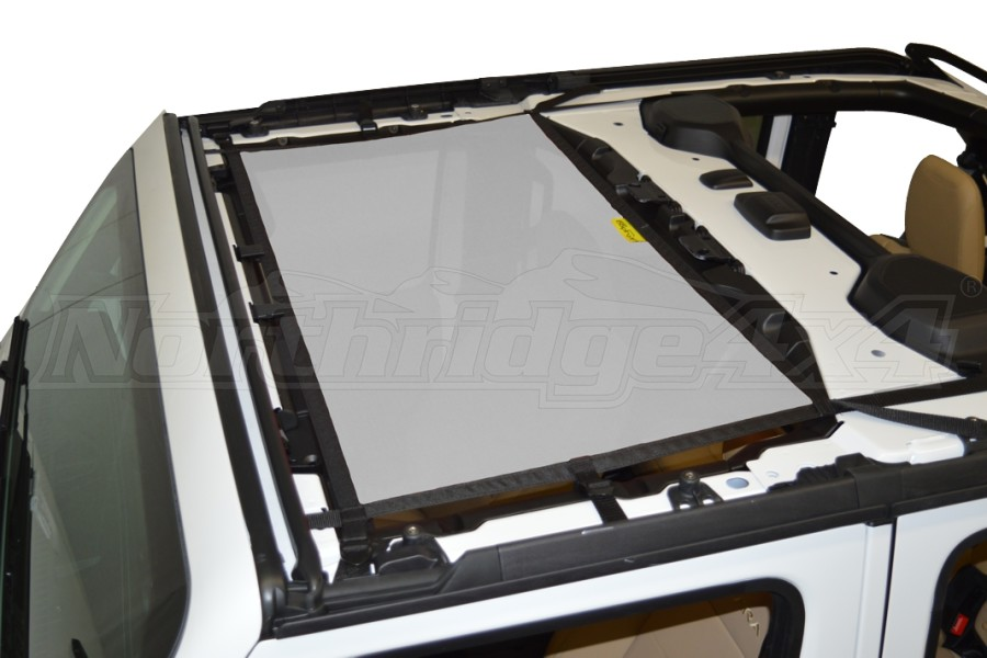 Dirty Dog 4x4 Sun Screen Front - Grey (Part Number:JL4S18F1GY)