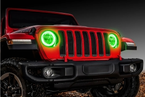 Oracle LED Headlight Surface-Mount Halo Kit - Green - JT/JL