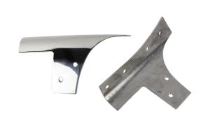 Kentrol Windshield Support Set - Polished Silver  - JK