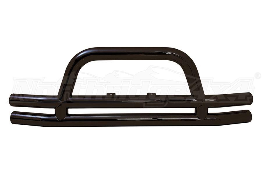 Smittybilt Tubular Front Bumper w/Hoop Gloss Black (Part Number:JB48-F)