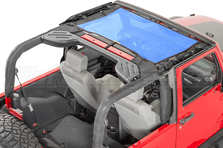 Dirty Dog 4x4 Front Seat Sun Screen Blue (Part Number:J4SS07F1BL)