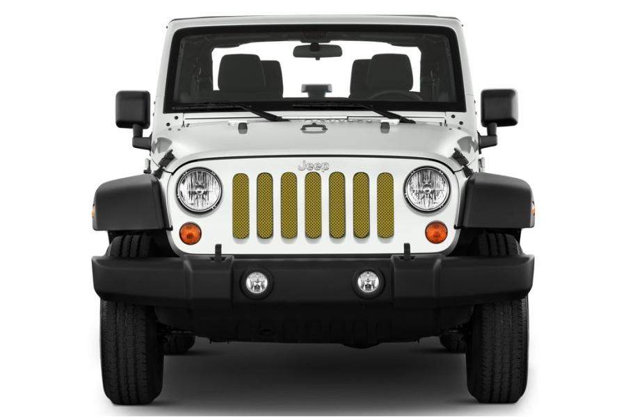 Jeep Jk Under The Sun Inserts Rescue Green Metallic Grill Insert
