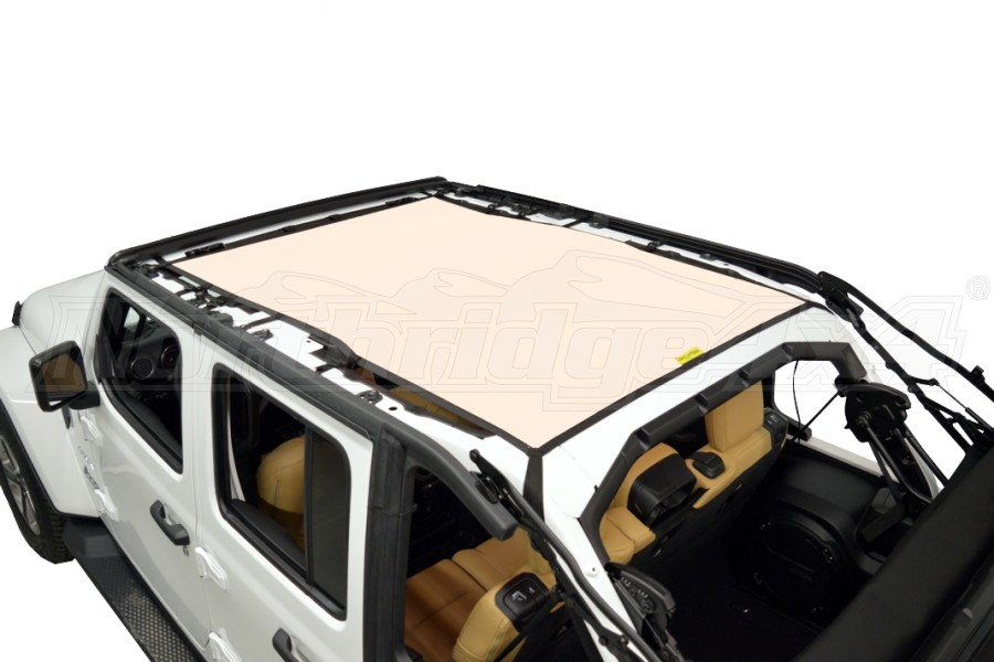 Dirty Dog 4x4 Sun Screen Safari length - Sand (Part Number:JL4S18S1SD)