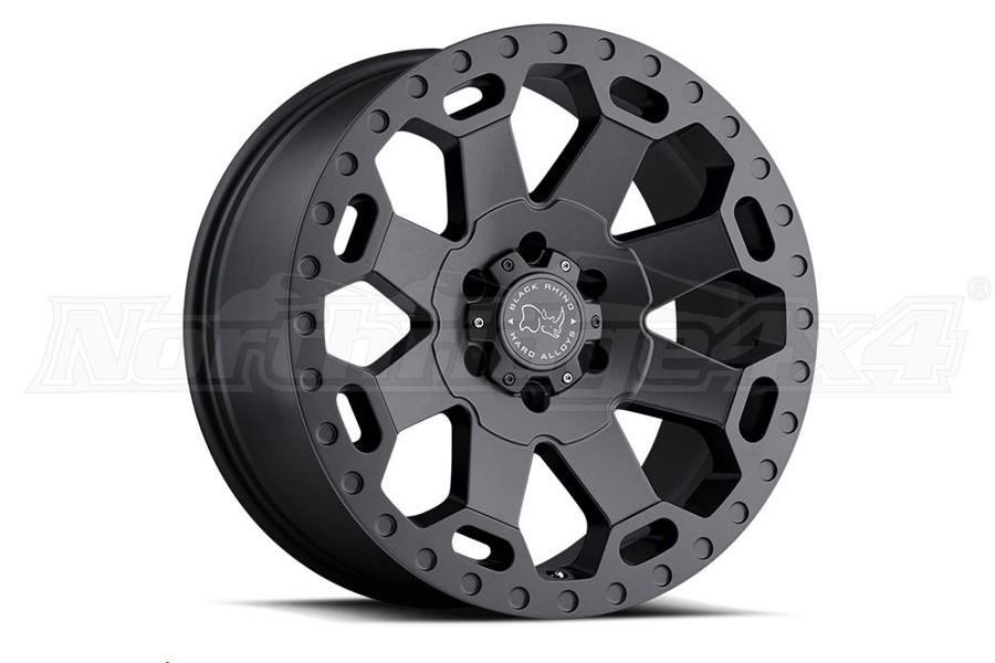 Black Rhino Warlord Wheel 17x9 5x5 Matte Gunmetal (Part Number:1790WAR-25127G71)