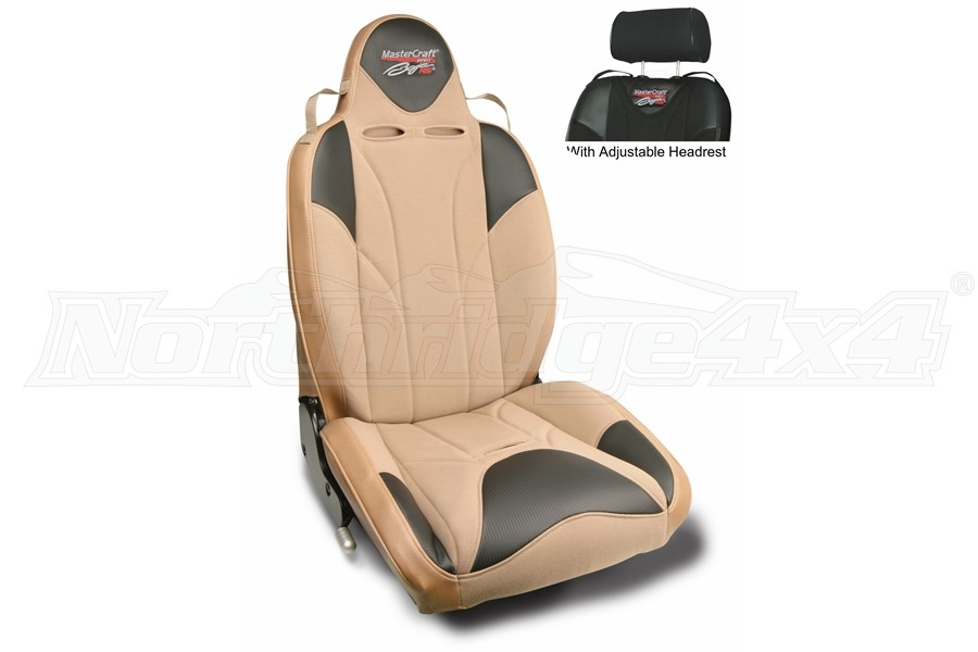 MasterCraft Baja RS DirtSport Reclining Seat w/Adj. Headrest Tan/Brown Haze/Brown Haze